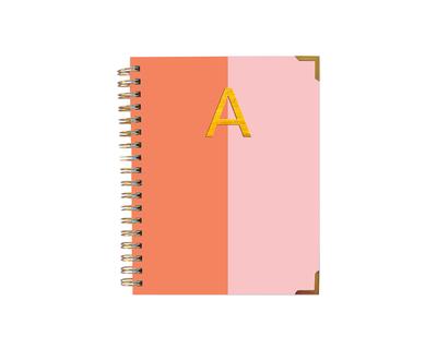 Colorblock initial diary thumb