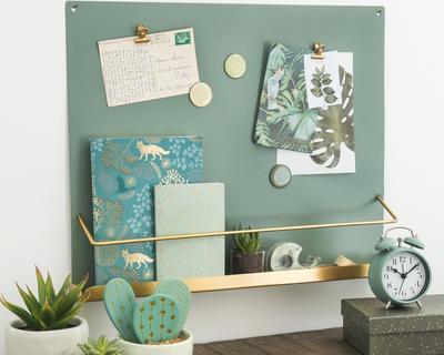 Royal green magnetic board cum shelf thumb