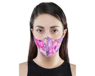 Floral printed mask thumb