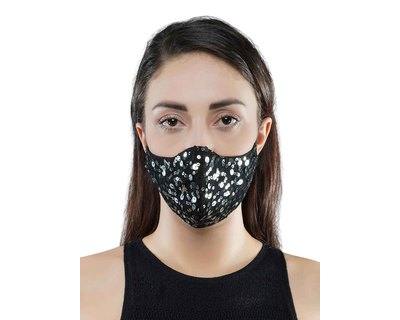 Black sequins mask thumb