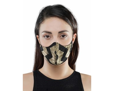 Printed pleated mask thumb