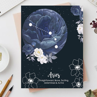 Aries zodiac sign notebook small