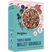 Triple berry millet granola with strawberries small