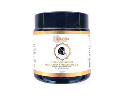 Amayra naturals kiara apple seed oil hemp seed oil soya corn protein intensive repair hair masque 100gm thumb
