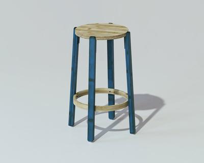 Bamboo rad stool small thumb
