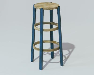 Bamboo rad stool large thumb