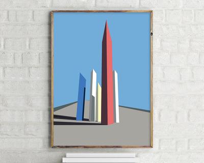 Torres de satelite luis barragan wall art thumb