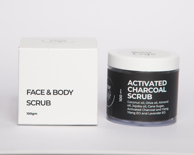 Activated charcoal face body scrub thumb