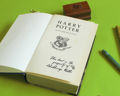 Official harry potter personalised wooden text stamp with stamp pad prince thumb
