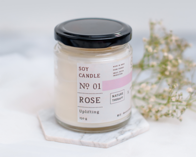 Rose soy candle thumb