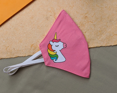 Reusable hand painted mask unicorn thumb