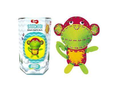 Toiing stitchtoi monty the monkey diy felt stitching kit thumb