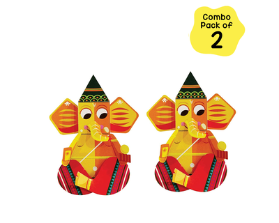 Toiing craftoi ganpati 3d diy paper craft kit teach kids about festivals combo pack of 2 thumb