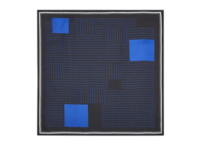 Oxford black cobalt pocket square thumb