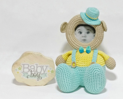 Crochet toy dungaree boy frame thumb