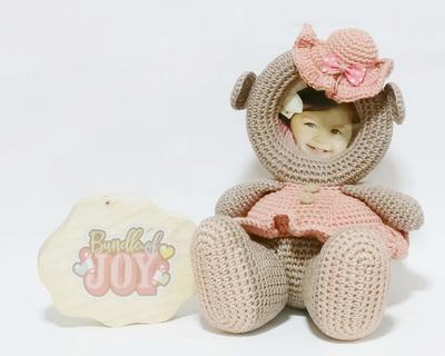 Crochet toy sheep girl frame thumb