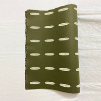Green with tamarind leaves gift wrap small