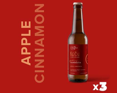 Apple cinnamon kobu pack of 3 kombuchas thumb