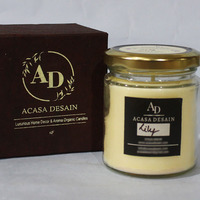 Lily aroma jar soy candle small