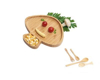 Wufiy wooden mushroom shape plate free set of spoons thumb