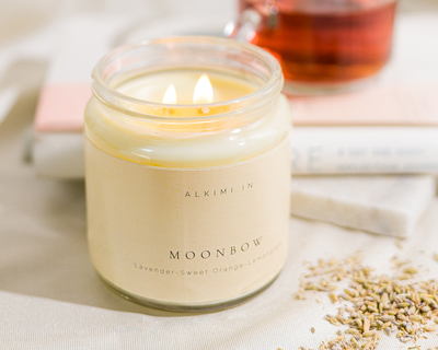 Moonbow scented soy wax candle thumb
