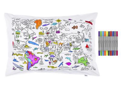 World map pillowcase thumb