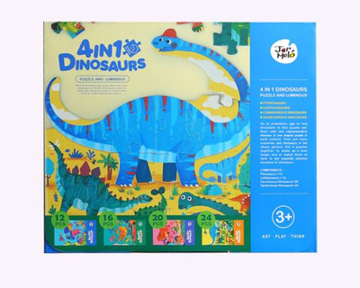 4 in 1 dinosaurs puzzle and luminous thumb