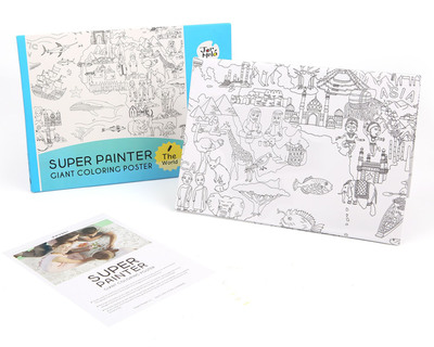 Super painter giant colouring poster pads the world thumb