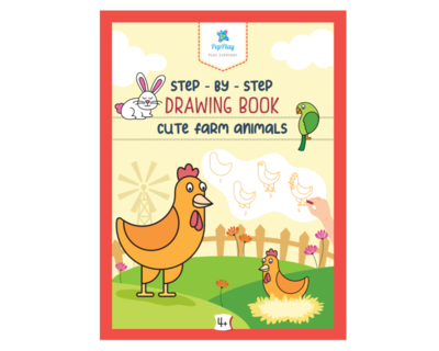 Step by step drawing book cute farm animals thumb