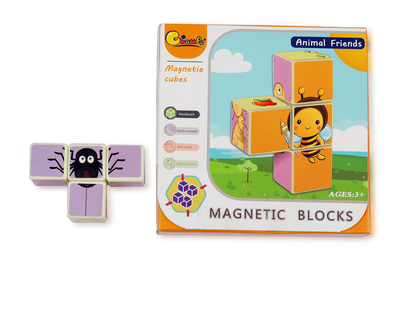 Insects magnetic cube puzzle 4 pcs thumb