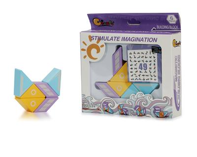 Magnetic building blocks 6 pcs thumb