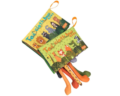 Animal tails baby early education cloth book thumb