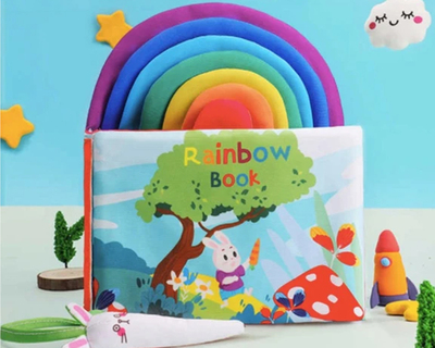 Colorful baby activity book thumb