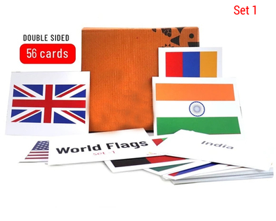 World flags flash cards 56 numbers set 1 thumb