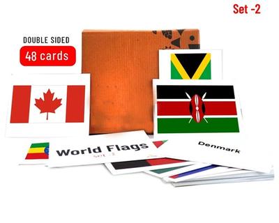 World flags flash cards set 2 thumb