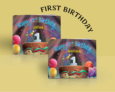 Happy 1st birthday child s name personalized thumb