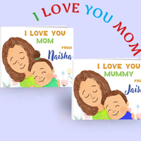 I love you mom personalized book for upto 2 children small