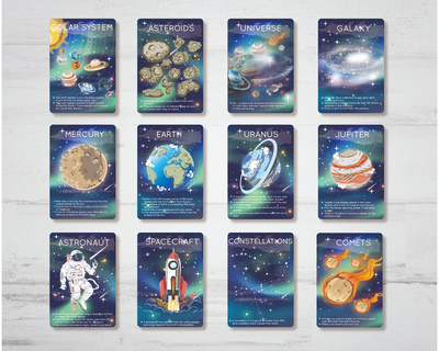 Outer space flash cards thumb