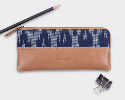Pencil pouch navy blue thumb