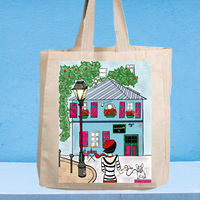 Montmartre canvas tote bag small