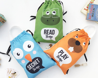 Kids toy bags animal wonder pack of 3 thumb