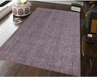 Hand tufted modern area rug purple thumb