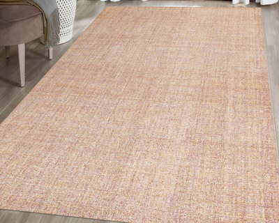 Hand tufted modern area rug pink thumb