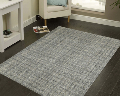 Hand tufted modern area rug olive thumb