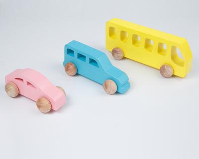 Wooden vehicle set thumb