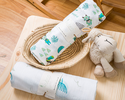 Forrest and lily muslin swaddle thumb