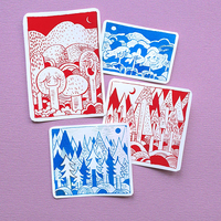 Landscapes sticker pack small