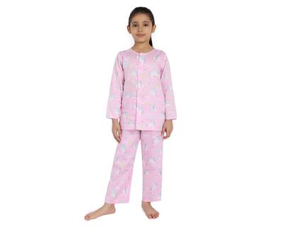 Magic unicorn pure cotton infant kids night suit thumb