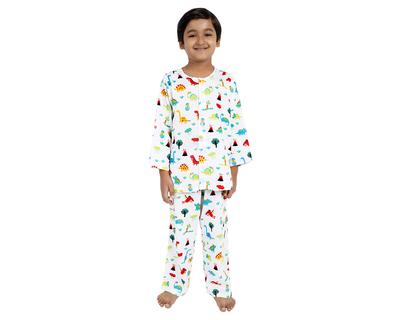 Jurassic infant kids pure cotton nightsuit thumb