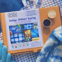 Indigo clamp dyeing small